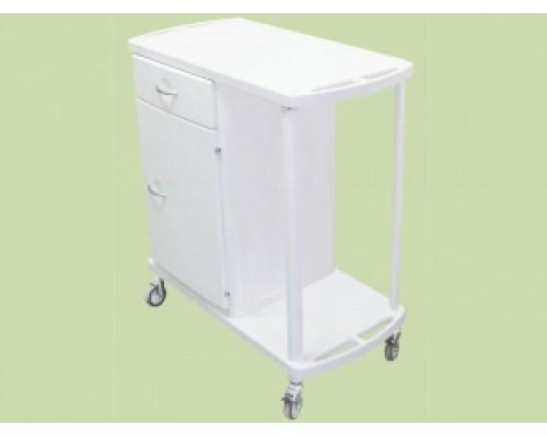 СТМП-02 ЕЛАТ исп.1 - Столик-тележка медицинский полимерный тумбовый