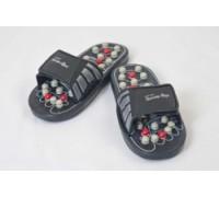 Рефлекторные массажные тапочки с подпружиненными массажными элементами