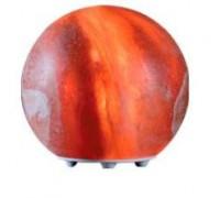 Солевая лампа на пластик. подставке в виде шара