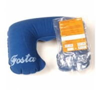 Подушка под голову надувная «подкова», синяя, FOSTA