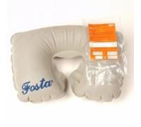 Подушка под голову надувная «подкова», бежевая, FOSTA